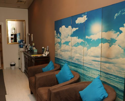 Inspire physiotherapy Clinic waiting room